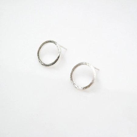 TIN HAUS Zen Open Circle Studs - Sterling Silver