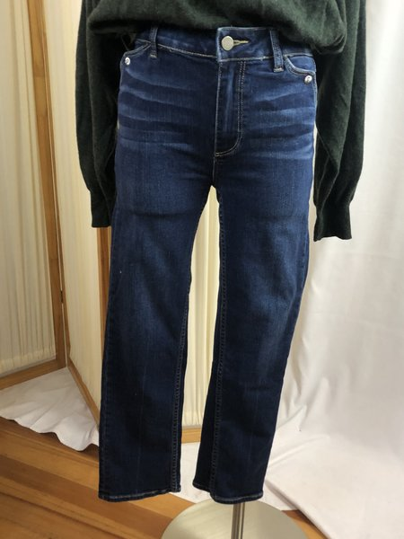 [pre-loved] Tracy Gretter Paige Hoxton Straight Ankle Embellished Denim Jean - Blue Wash