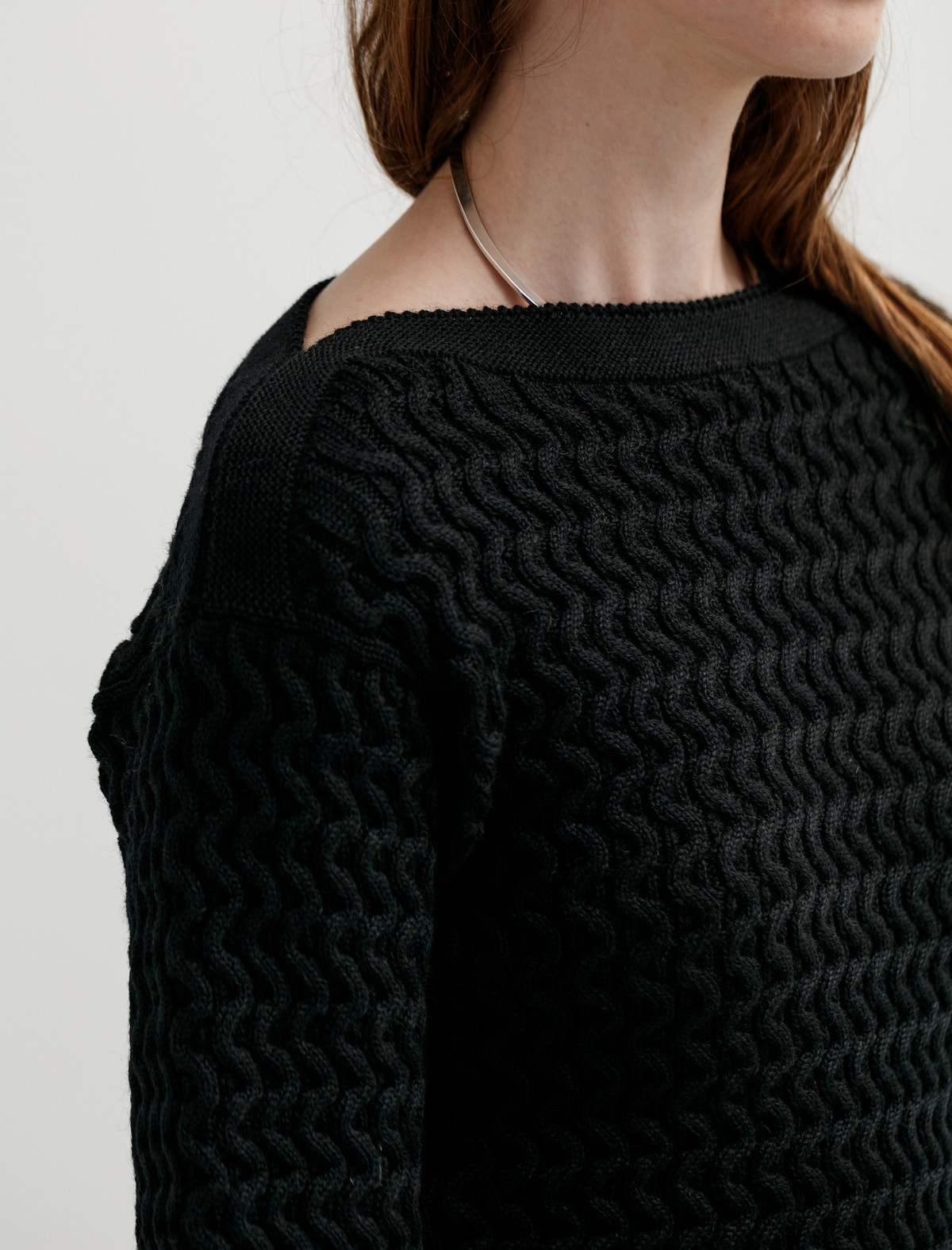 Lemaire Fitted Cable Knit Sweater - Black | Garmentory
