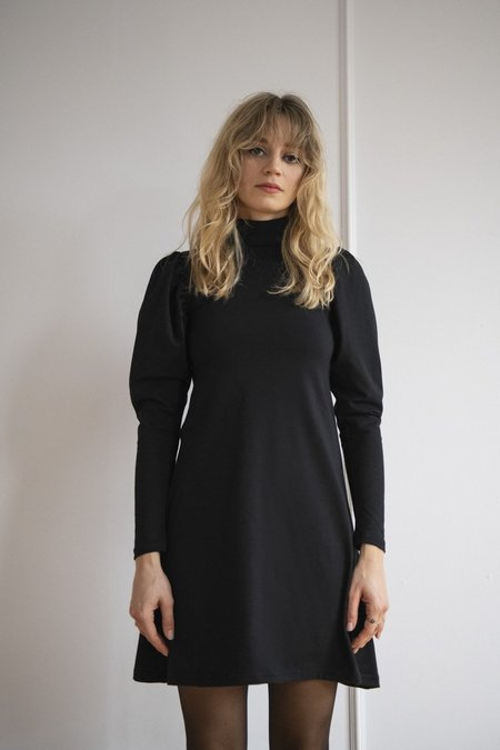 Rightful Owner Jersey Puffed Dress - Noire