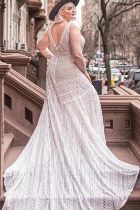 RISH BRIDAL Rita Boho Plus Dress