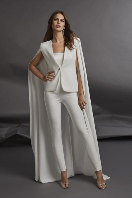 [Pre-loved] Atelier Pronovias Unconventional White Tuxedo 02 - Off white