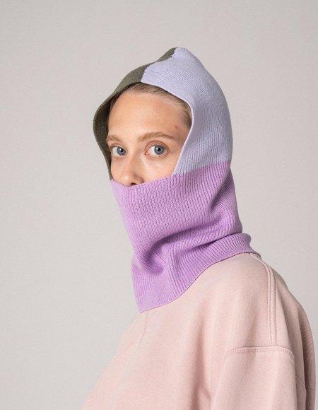 Check Ya Head Colourblock Balaclava - Lavender
