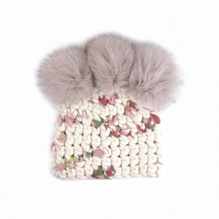 Mischa Lampert XL poms crown beanies - Rosebud/taupe