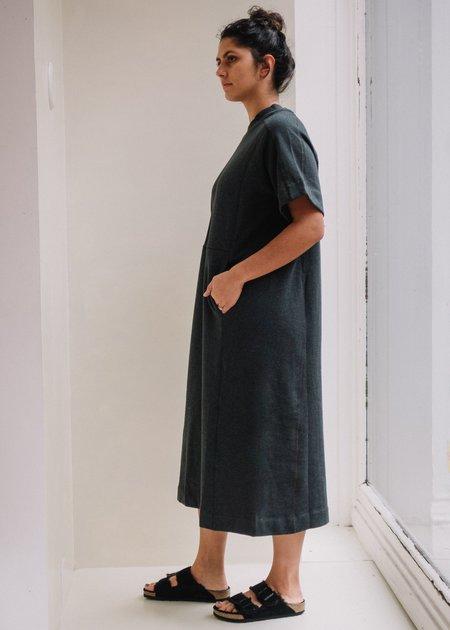 Kowtow Linear T-Shirt Dress - Charcoal