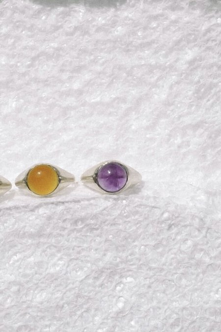 duo nyc LUINY AMETHYST KRASNER RING - SILVER