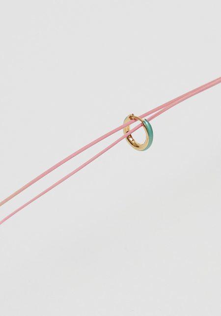 Maria Black Kate Huggie earrings - Gold/Ocean