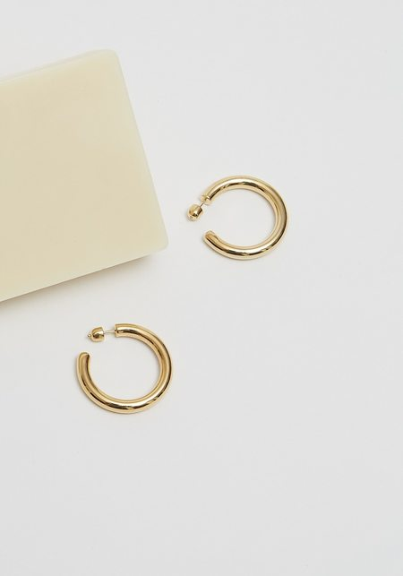 Maria Black Ruby 35 Hoops - Gold/925 sterling silver