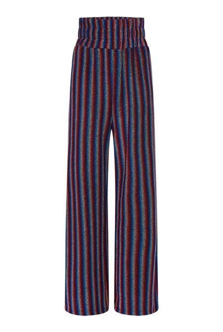 Olivia Rubin Marie Metallic Stripe Trouser - Multi