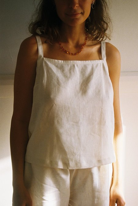Mimi Holvast Strappy Top - Off White