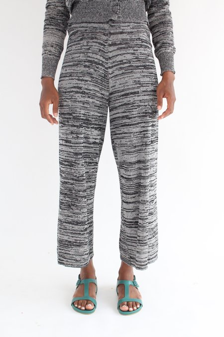 Beklina Cotton Knit Trouser - Black/Grey
