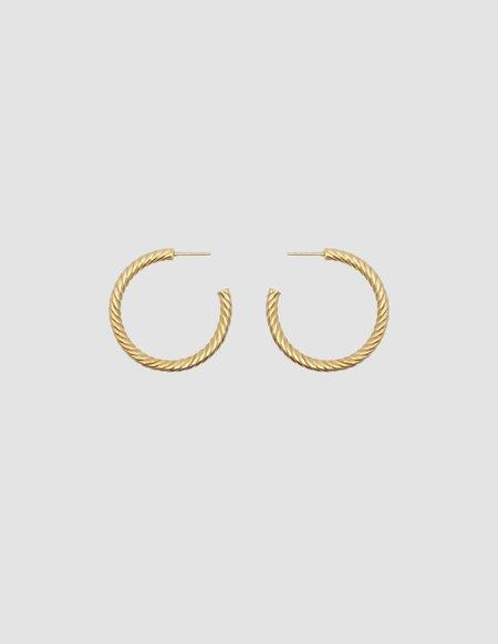 LES SOLIDES big hoops twist pair - gold