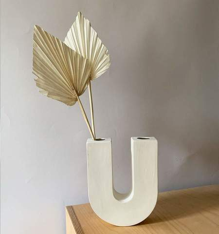 studio à la cave libra ikebana vase - white porcelain