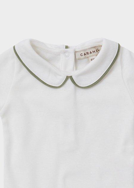 Kids Caramel Cormorant Gifting Romper - Ecru
