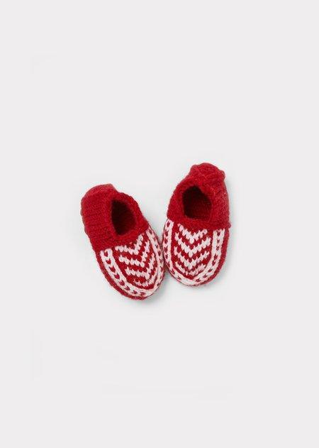 Kids Caramel Kiwi Baby Slippers - Red