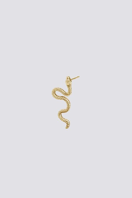 Talon Snake Earring Stud - Gold