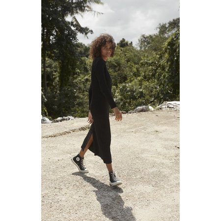 Ruestiic Frankie Knit Women's Clothing Boutique Dress - Black