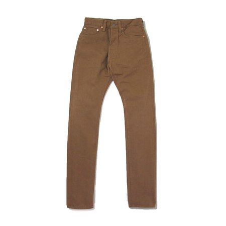 Pure Blue Japan 12oz Selvedge Twill Relaxed Fit Chino - Wash Camel
