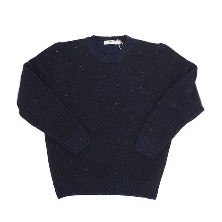 Inis Meáin Donegal Sweater - Navy