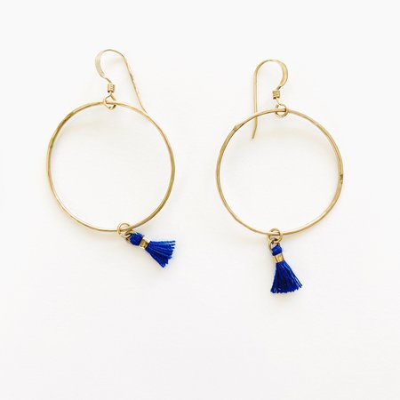 Bijoux B Mini Tassel Hoop Earrings - 14k  Gold Filled