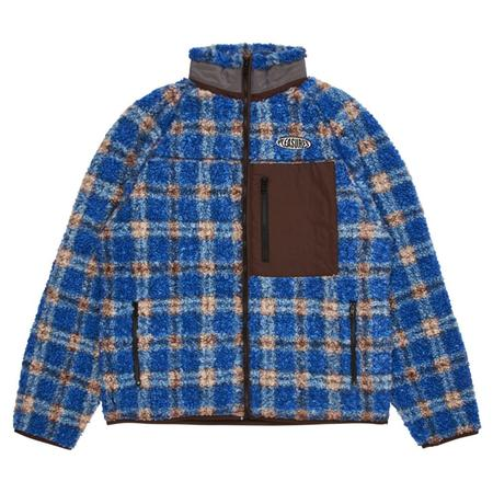 PLEASURES Wraith Poodle Polar Fleece Jacket - Blue