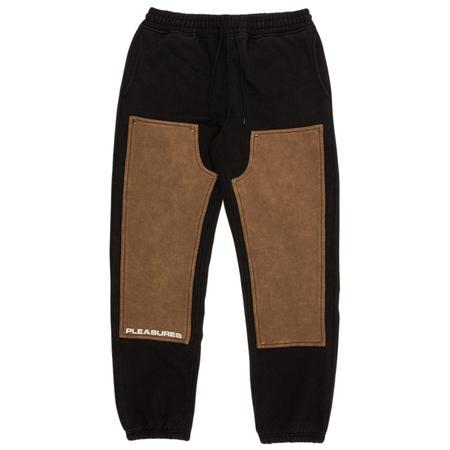 PLEASURES Burnout Dyed Sweatpant - Black