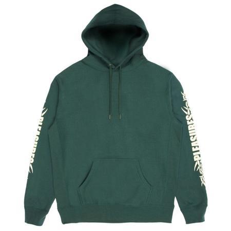 PLEASURES Razor Logo Hoody - Dark Green