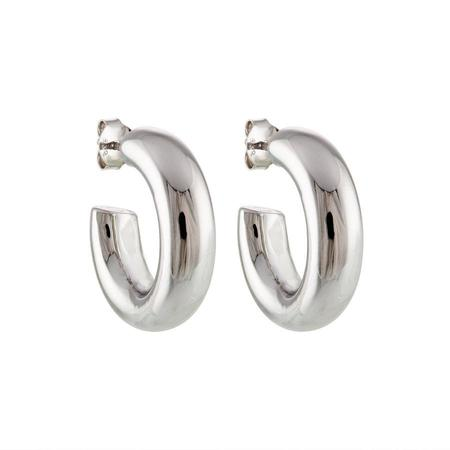 """75"""" Perfect Hoops in silver"""