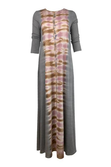 KES Raquel Allegra Half Sleeve Drama Maxi Dress TD - Tiger