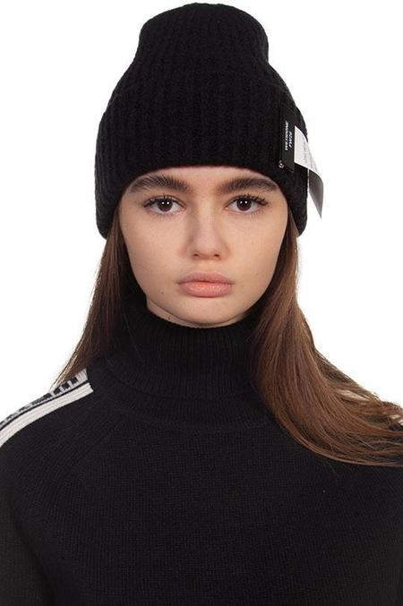we11done Felted Knit Beanie Hat - Black
