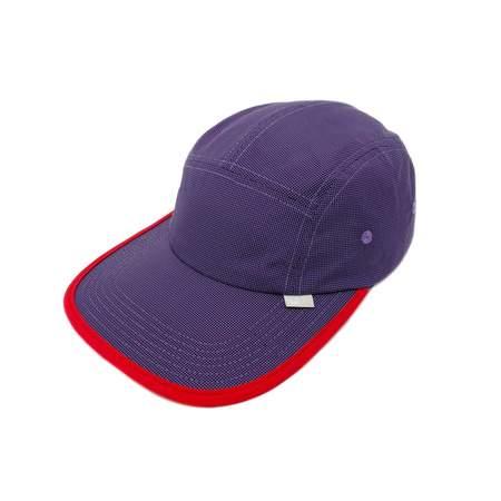 Utopian Projects Patrol Long Bill Up08 Summit Grid Cap - Purple/Flame
