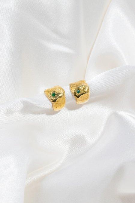 Eyde Raz Earrings - Brass