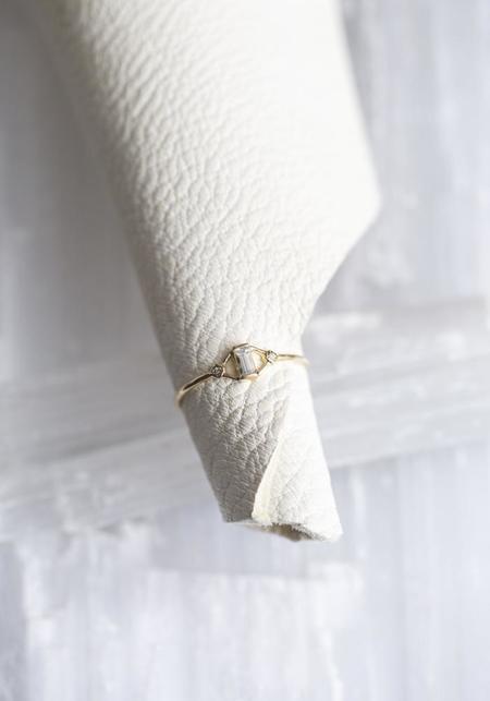 Scosha Diamonds/White Sapphire Kite Ring - 10kt Gold