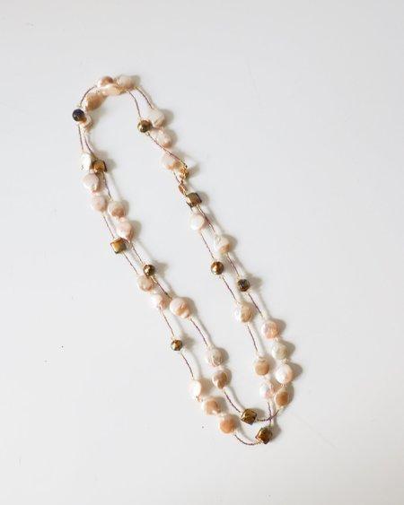 Bess Heitner Venetian Beaded Necklace - Cream