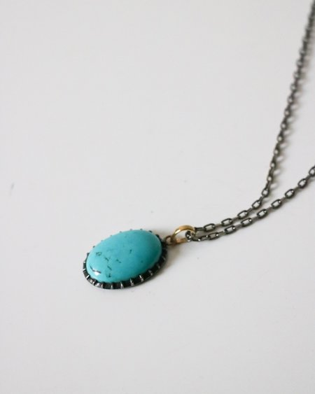 Layla Pendant Necklace - Turquoise/Silver