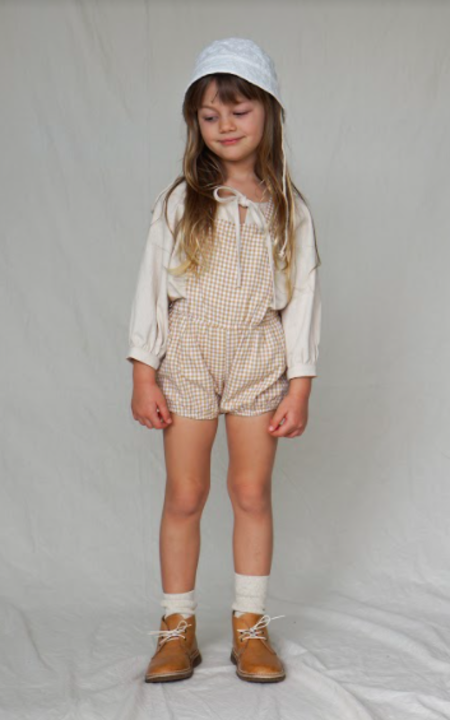KIDS House of Paloma Anais Playsuit - Ginger Gingham
