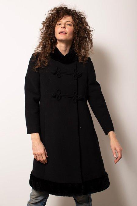 Vintage Wool Coat - Black
