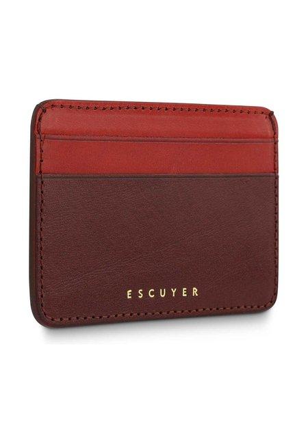 Escuyer Cardholder Wallet - Burgundy/Red