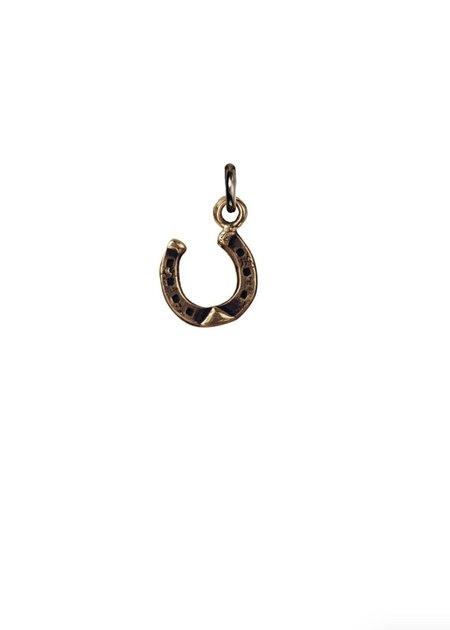 Pyrrha Horseshoe Symbol Charm - Bronze/Silver
