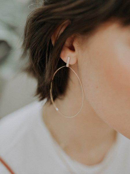 MERAKI BOUTIQUE Hart & Stone Pillar Earrings - 14k yellow gold