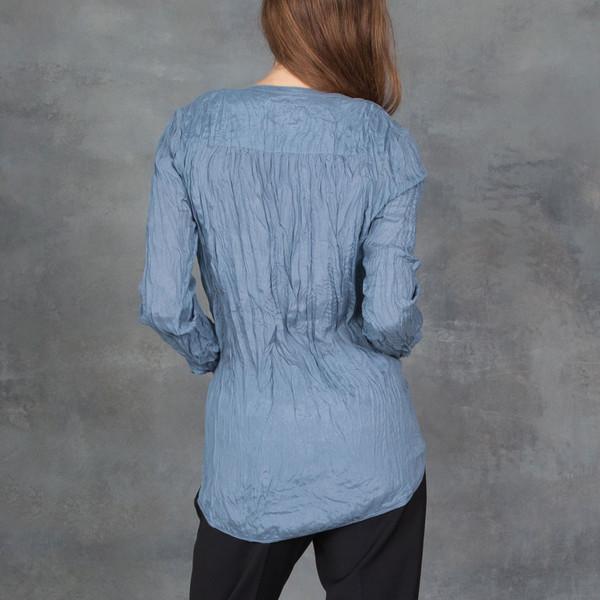 Go Silk Go India Silk Long Sleeve Blouse