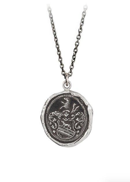 "Pyrrha 20"" Heart of the Wolf Talisman - Sterling Silver"