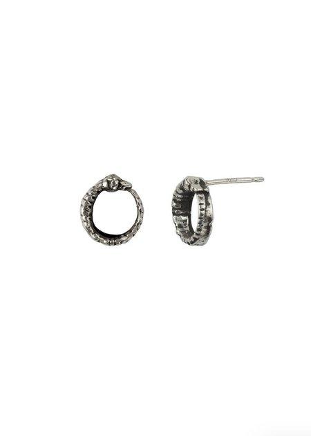 Pyrrha Ouroboros Stud Earrings
