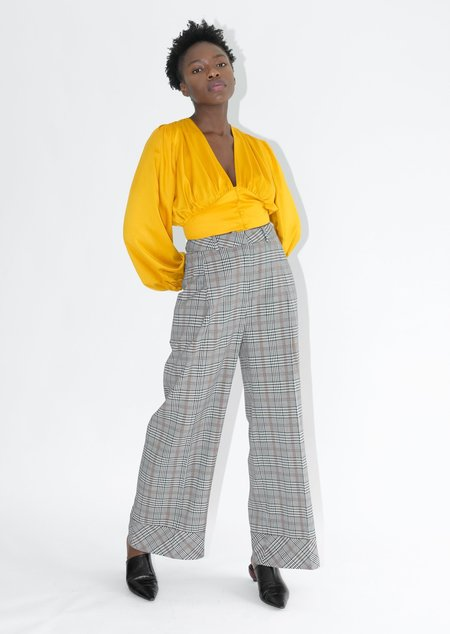 OhSevenDays Blair Suit Trousers - Houndstooth Plaid