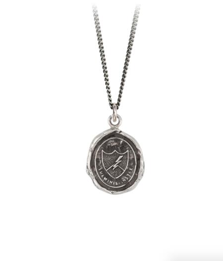 Pyrrha Like Lightning Talisman necklace - Sterling Silver