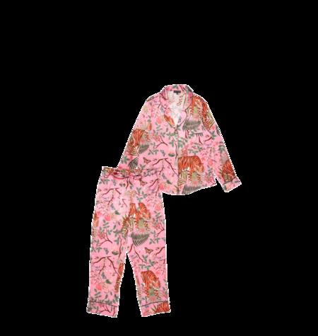 Karen Mabon Tiger Blossom Pyjama Set - Pink