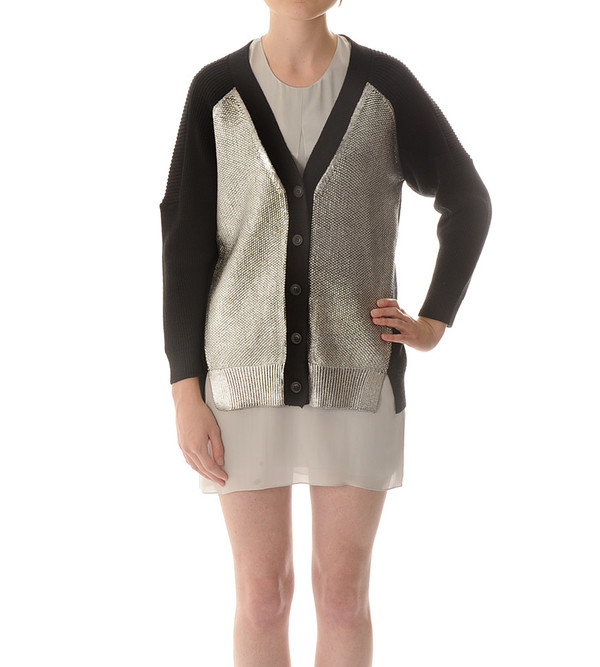 Mason By Michelle Mason Foil Front Cardigan