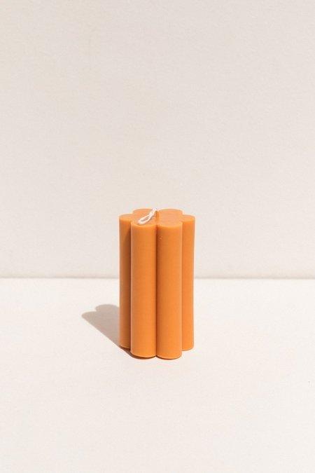 Evie Mine Large Daisy Candle - Orange