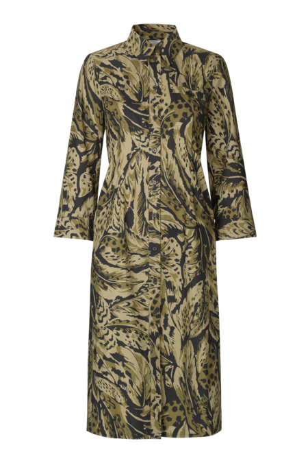 Baum und Pferdgarten Arlene Midi Dress - Olive Feather