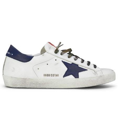 Golden Goose Superstar Leather Upper Nabuk Star And Heel sneakers - White/Night Blue